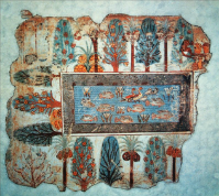A 3400 year old picture of a tilapia garden on the tomb of Nebamun.